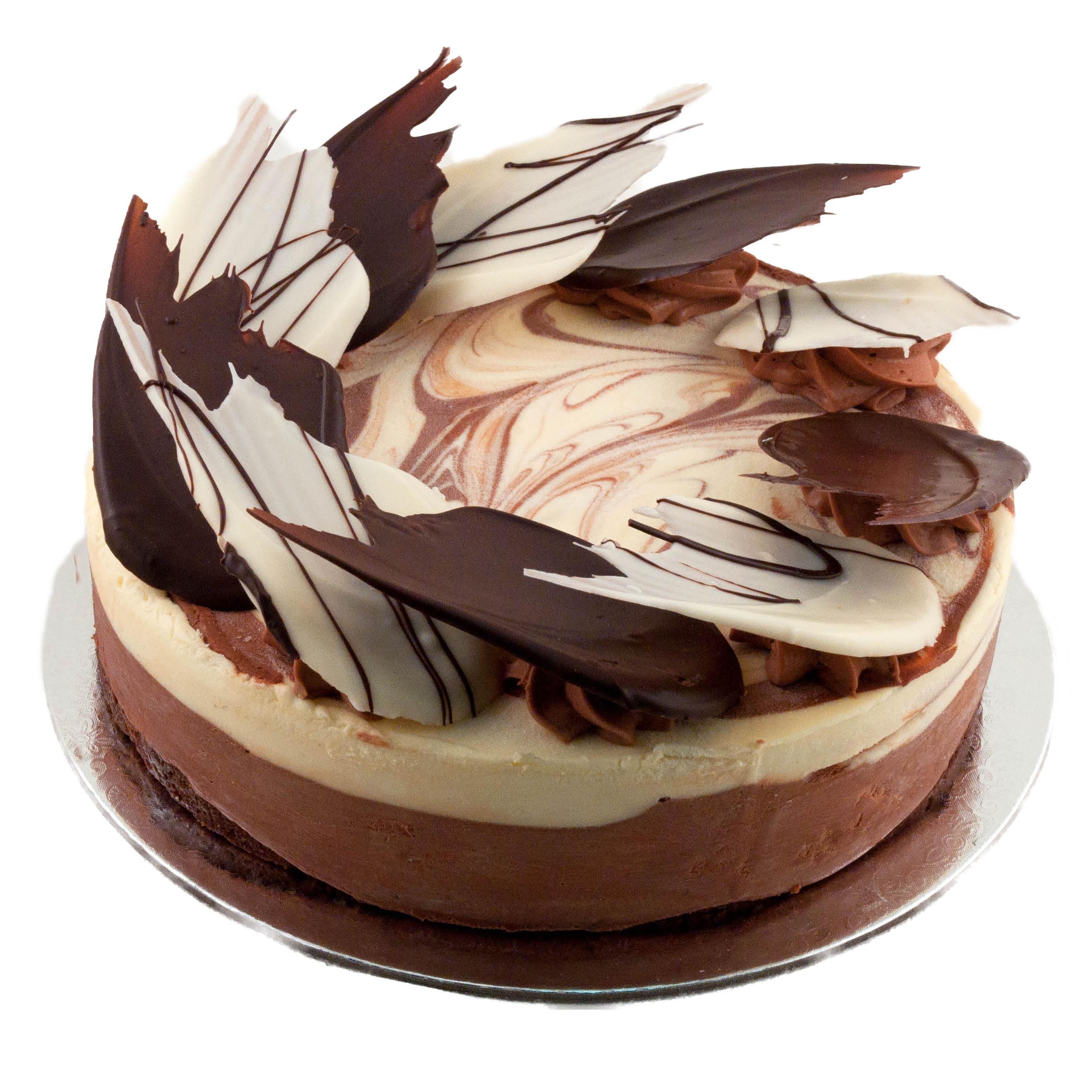 White And Dark Chocolate Mousse Cake