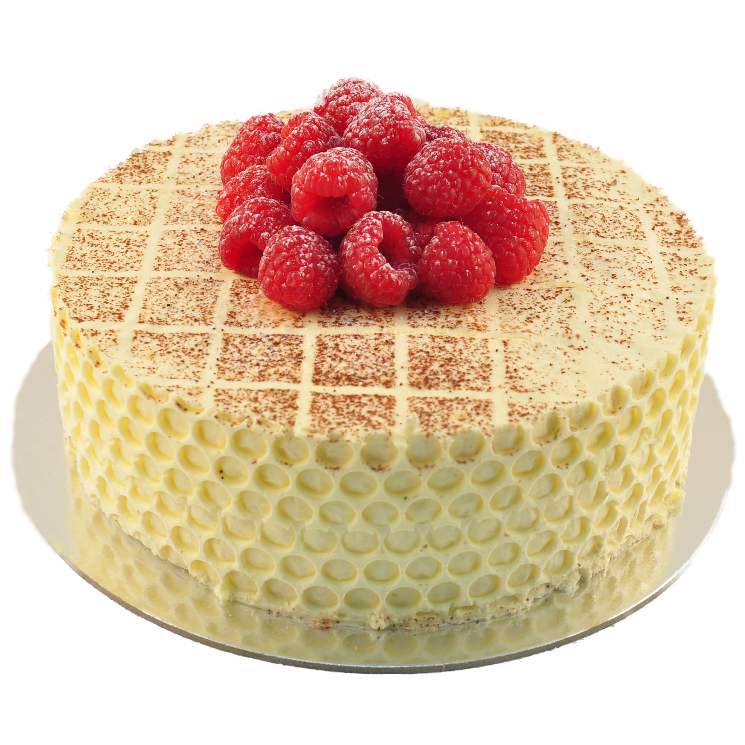Jam And Chantilly Cream Sponge Cake With Fresh Raspberries