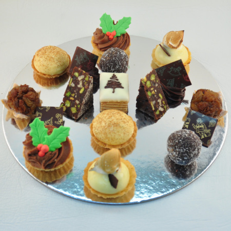 Christmas Petit Four Plate