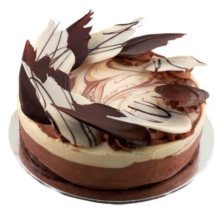 white dark chocolate mousse