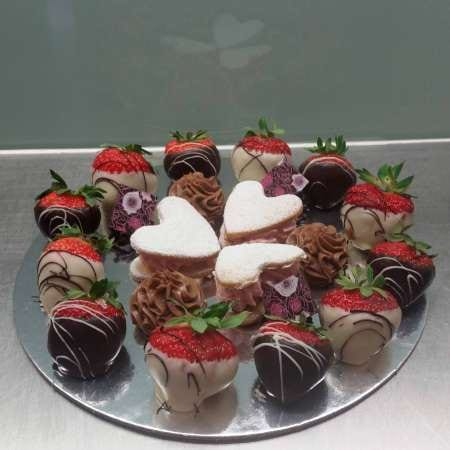 Valentines Day petit four plate