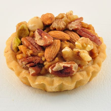 Individual caramel mixed nut