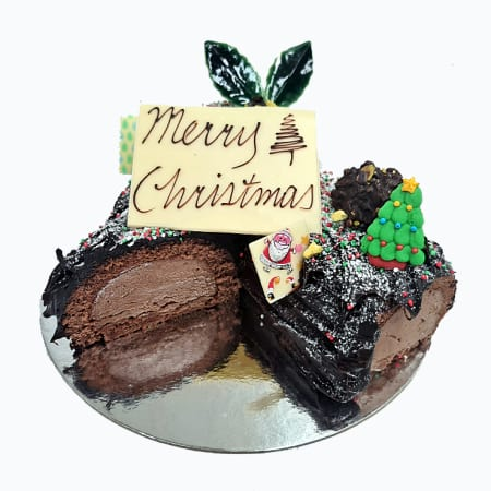Christmas Yule Log - Medium Size