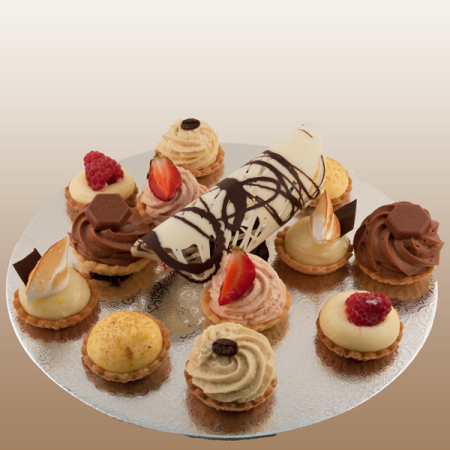 Assorted petit four plate