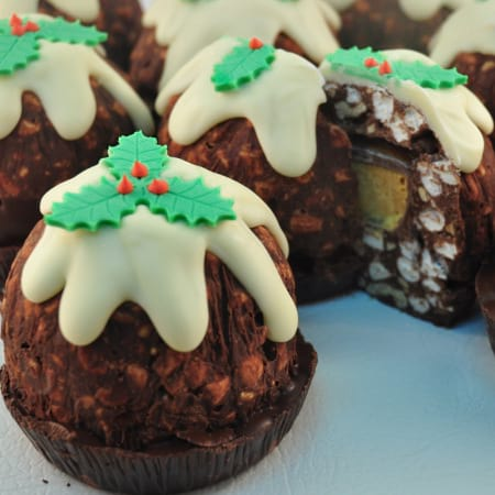 Rocky Road Christmas Pudding